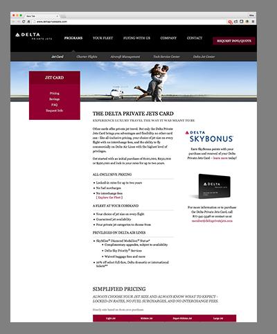 Delta Private Jets Website  Mike Governale
